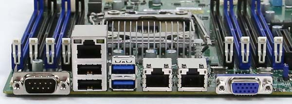 Supermicro X10SRL-F Rear IO