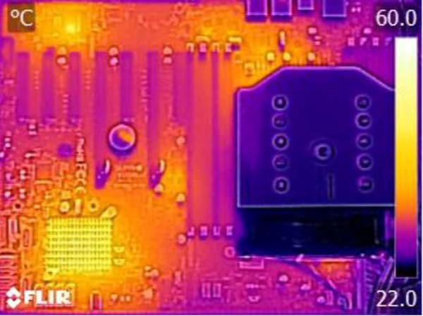 Supermicro X10SRL-F Thermal Imaging