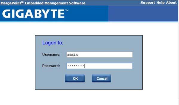 Gigabyte MergePoint EMS login