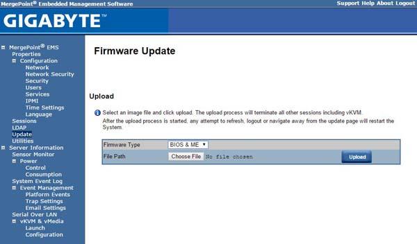 Gigabyte MergePoint Update Screen BIOS ME selected