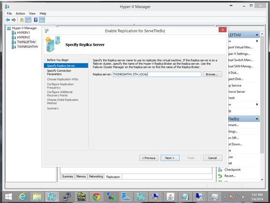 Hyper-V Manager - Enable Replication Wizard Source