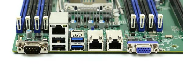 Supermicro X10SRi-F rear io