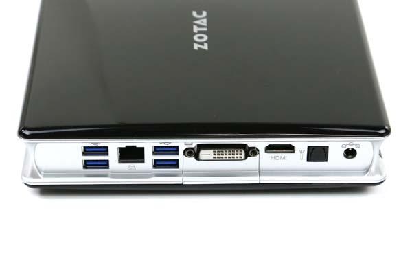 Zotac ZBOX-BI320-U-W2 Rear IO