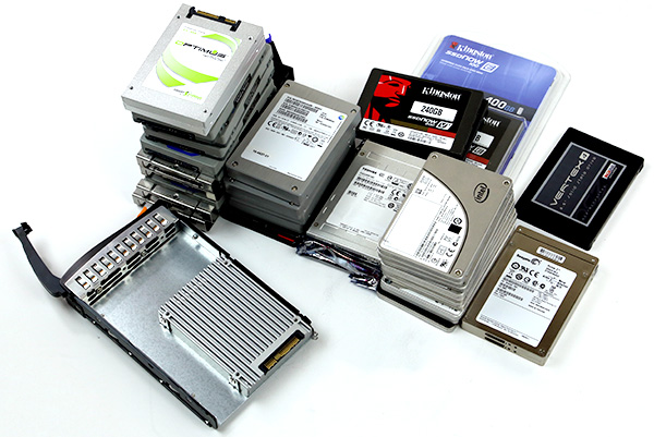 The 11TB+ SSDs sitting on the lab desk