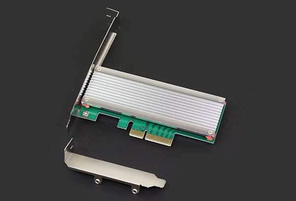M2 PCIe x4 adapter with heatsink
