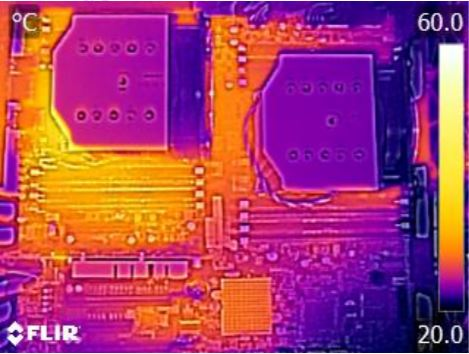 Supermicro X10DAi Thermal Imaging