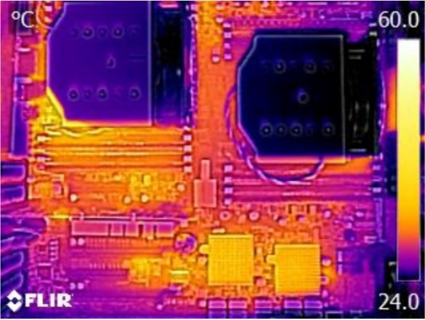 Supermicro X10DAC Thermal Imaging