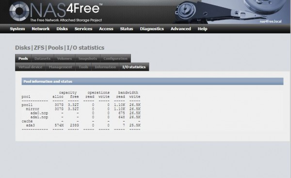 nas4free web interface
