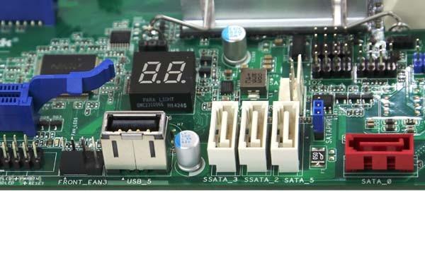 ASRock EPC612D8A-TB SATA USB and LED
