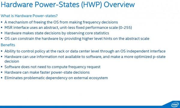 Intel Broadwell-DE HWP