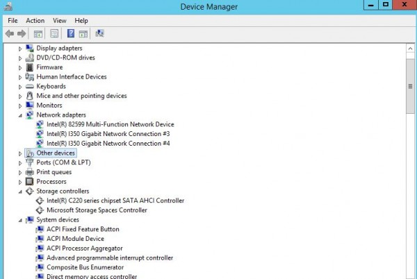 Intel Broadwell-DE Windows Device Manager