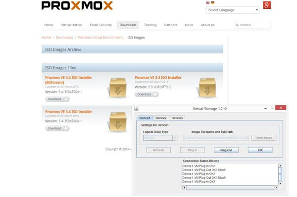 Proxmox VE 3.4 Download and Mount