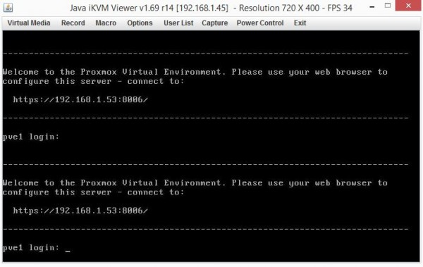Proxmox VE 3.4 Installed CLI