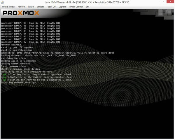 Proxmox VE 3.4 Installer Boot