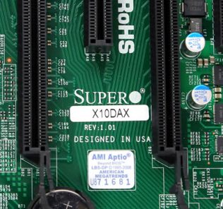 Supermicro X10DAX Label
