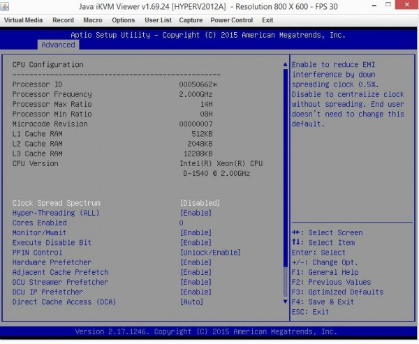 Supermicro X10SDV-TLN4F - Intel Xeon D-1540 BIOS