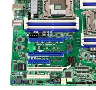 ASRock Rack EP2C612D16C-4L PCIe slots