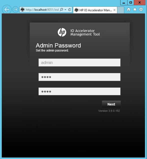 Fusion-io ioDrive installation - web console