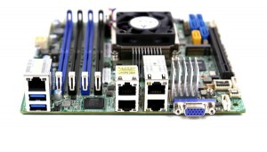 Supermicro X10SDV-TLN4F Rear IO and Network