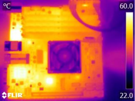 Supermicro X10SDV-TLN4F thermal imaging