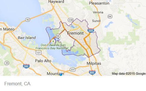 Fremont CA Map