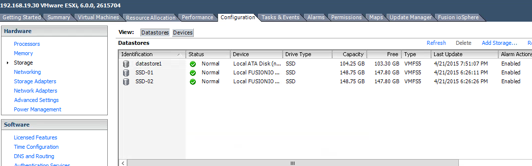 Fusion-io Install vSphere - HP download page
