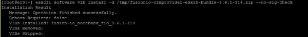 Fusion-io Install vSphere - step 5 ioSphere