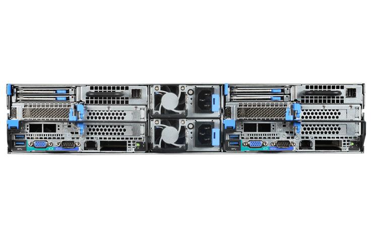 QuantaPlex T21SR-2U PCIe Rear