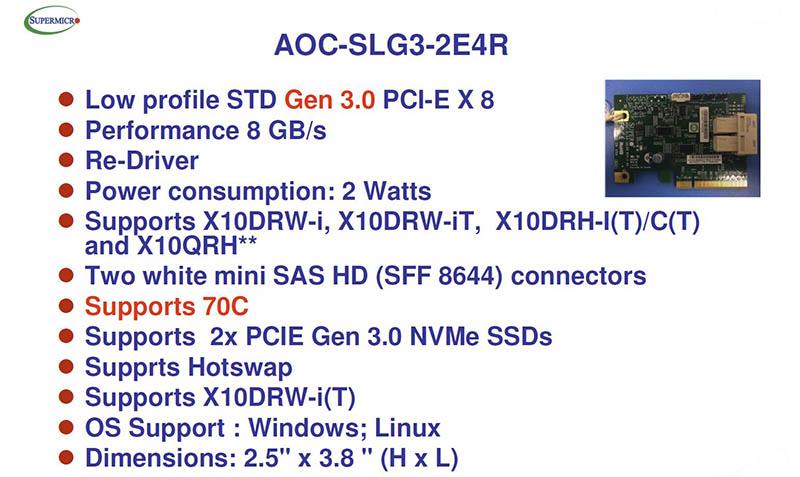Supermicro AOC-SLG3-2E4R Specs - 800 - ServeTheHome