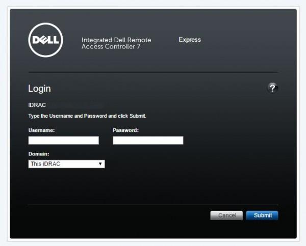 Dell iDRAC7 Login