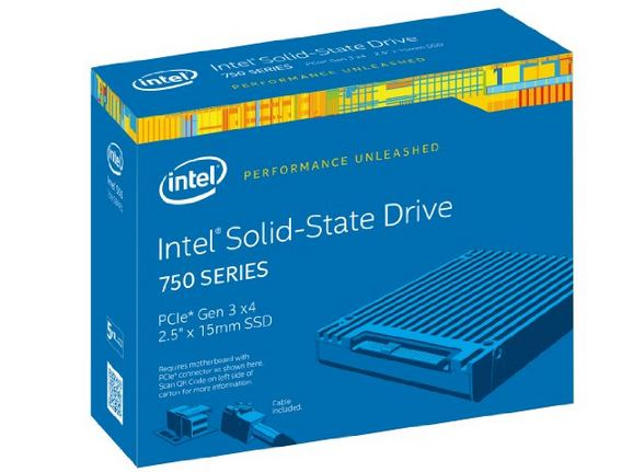 Intel 750 SSD 2.5 in SFF retail kit
