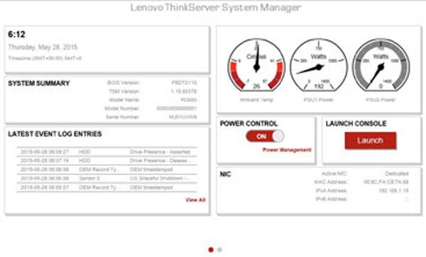 Lenovo ThinkServer RD550 System Manager