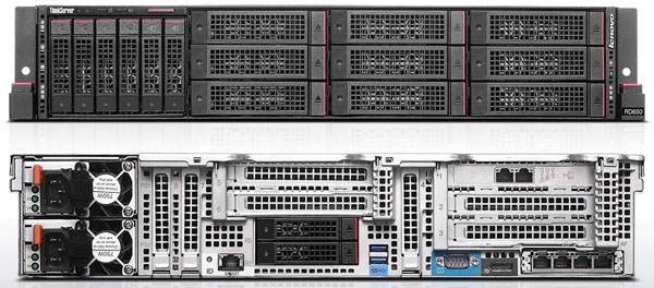 Lenovo ThinkServer RD650 - 8 x 2.5 and 9 x 3.5 inch Drives