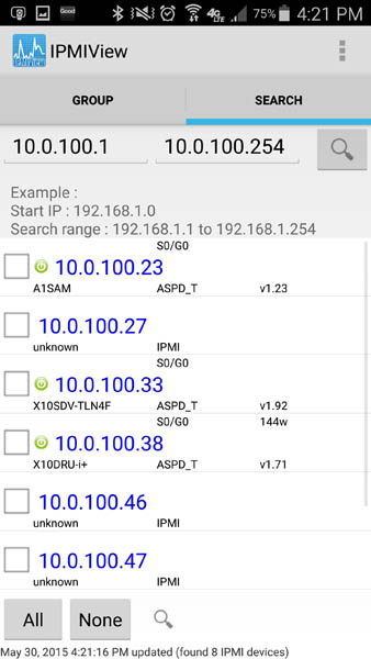 Supermicro IPMIview for Android - Fremont Results