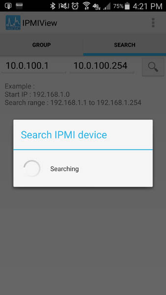 Supermicro IPMIview for Android - Search for IPMI Devices