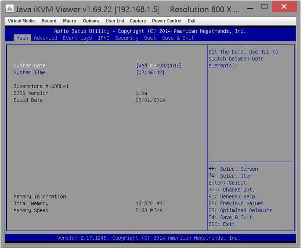Supermicro X10DRL-i - BIOS