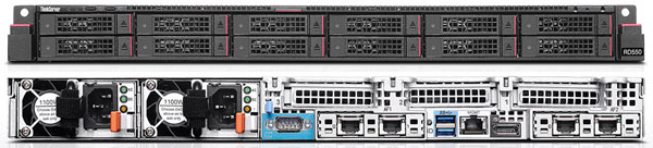 ThinkServer RD550 with up to 12 x 2.5 Drives