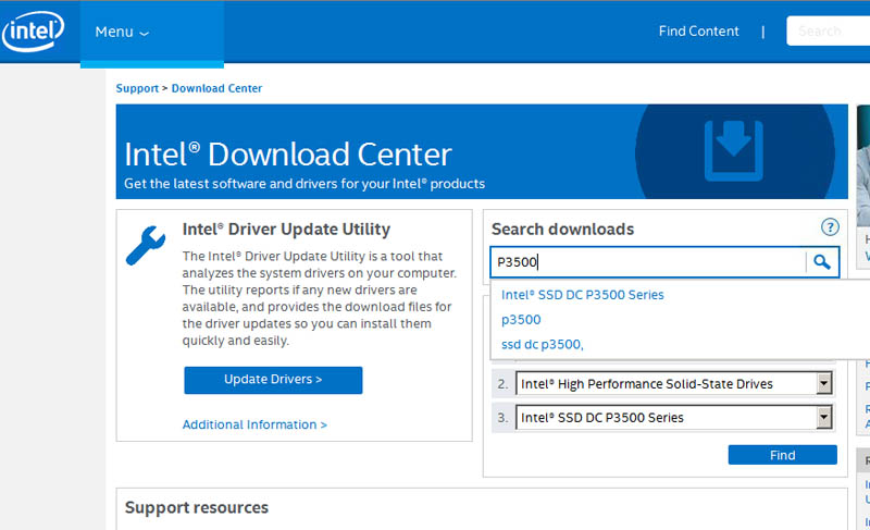 Intel DC P3500 1200GB ESXi 6 Intel Driver Download