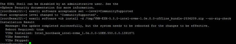 Intel DC P3500 1200GB ESXi 6 Intel Driver Install