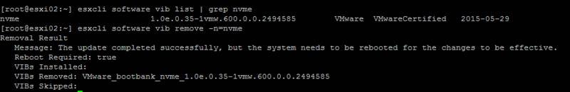 Intel DC P3500 1200GB ESXi 6 remove stock driver