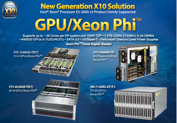 Supermicro GPU/Xeon Phi  SuperServers
