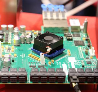 A Serial Cables - Avago PCIe switch board for NVMe SSDs