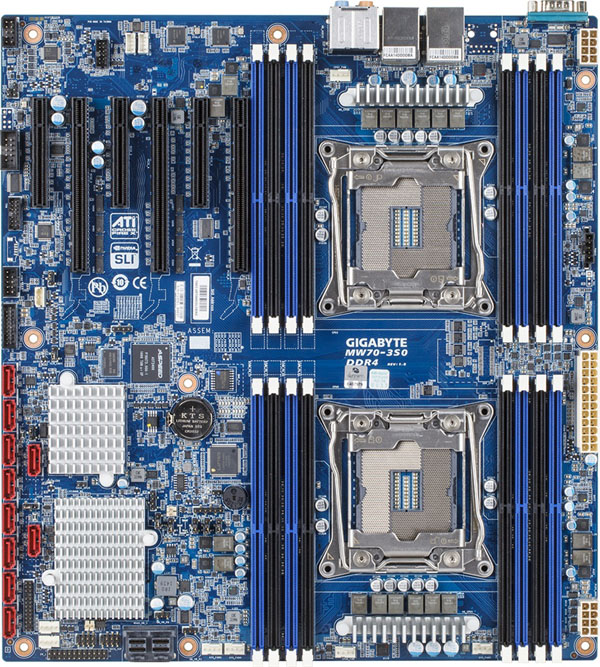 Gigabyte MW70-3S0 Board Layout