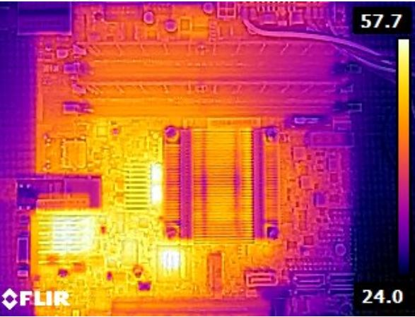 Supermicro X10SDV-4C-TLN2F thermal imaging
