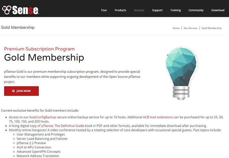 pfSense Gold Subscription