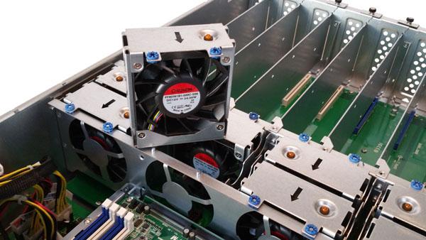 ASRock Rack 3U8G-C612 Cooling Fans