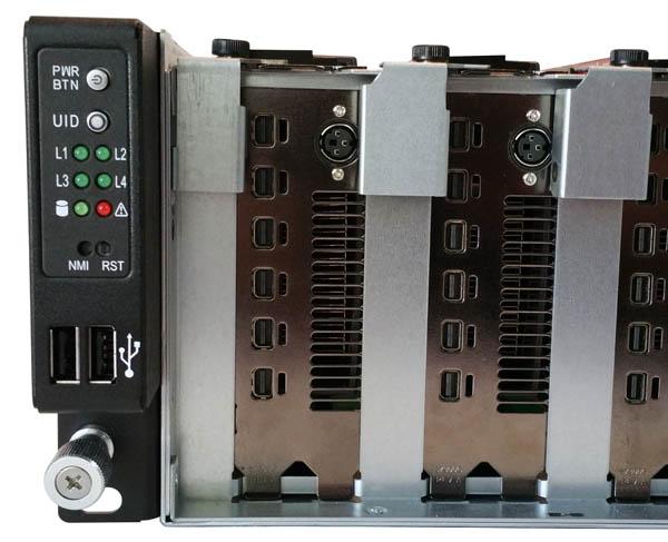 ASRock Rack 3U8G-C612 Front Control Panel