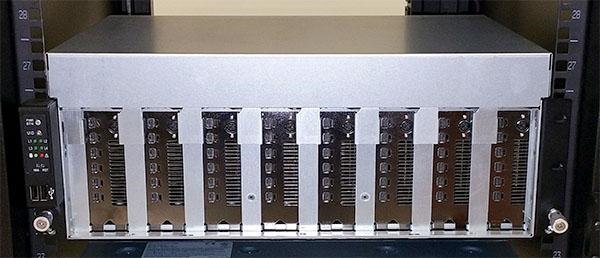 ASRock Rack 3U8G-C612 Installed in Data Center