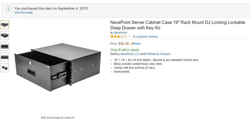 NavePoint 4U Rackmount Drawer Amazon