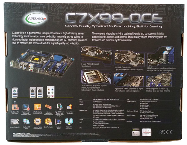 Supermicro C7X99-OCE Motherboard Back Box